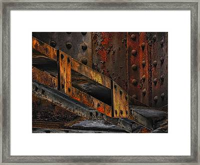 Rust And Oxydation Framed Print by Joachim G Pinkawa