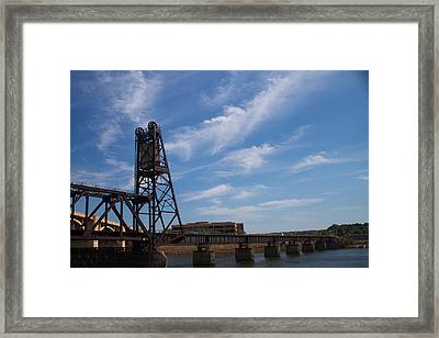 Framed Print featuring the photograph Rusted Bridge by Stephanie Nuttall