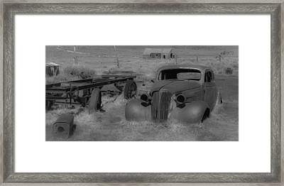 Rusted Car Framed Print by Richard Balison