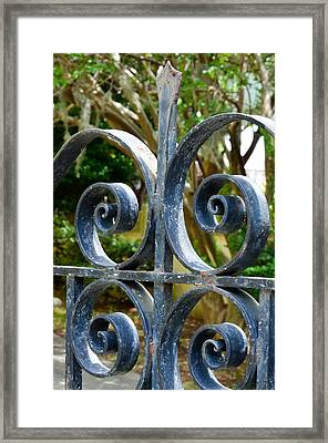 Rusted Charleston Ironwork Framed Print by Debbie Karnes