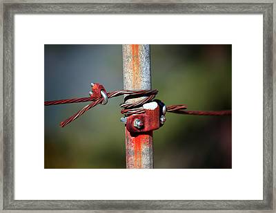 Rusted Fence Post 2 Framed Print