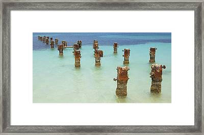 Rusted Iron Pier Dock Framed Print