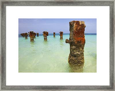 Rusted Iron Pier II Framed Print