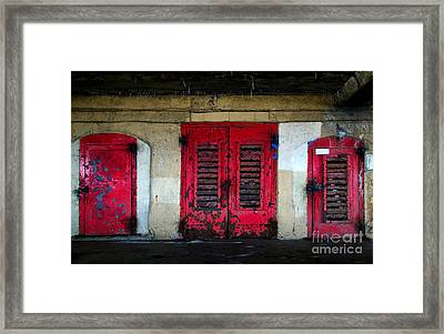Rusted Old Doors Framed Print