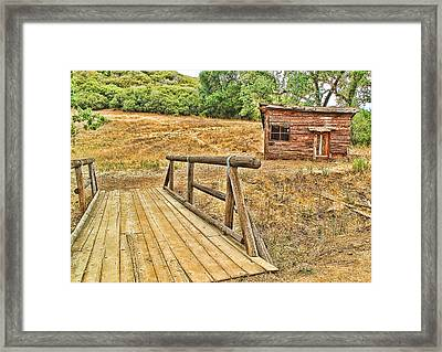 Framed Print featuring the photograph Rustic Cabin by Jason Abando