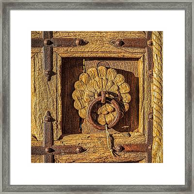 Rustic Charm Of Santa Fe Framed Print by Ken Stanback