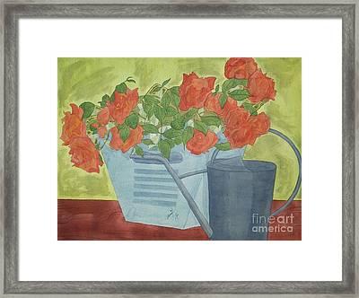 Rustic Garden  Framed Print by Jennifer Taylor Rogerson