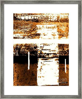 Rustic Modern Framed Print by Marsha Heiken