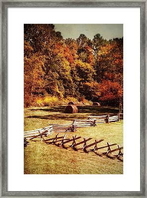 Rustic Pasture In The Smokies Framed Print by Mary Timman