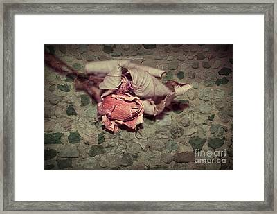 Rustic Rose Framed Print by Aimelle
