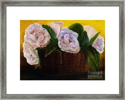 Rustic Roses Framed Print by Maria Williams