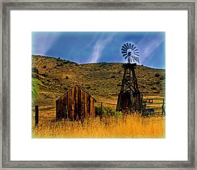 Rustic Windmill Framed Print by Marty Koch