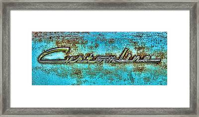 Rusting Ford Chrome Insignia Framed Print by Tony Grider