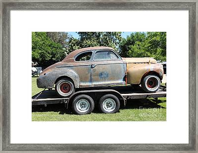 Rusty 1941 Chevrolet . 5d16210 Framed Print by Wingsdomain Art and Photography