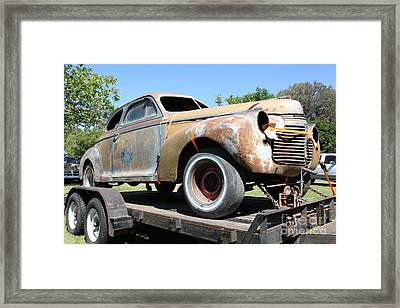 Rusty 1941 Chevrolet . 5d16211 Framed Print by Wingsdomain Art and Photography