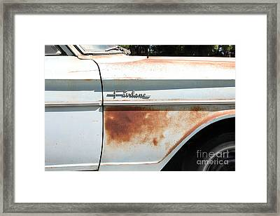 Rusty 1964 Ford Fairlane . 5d16186 Framed Print by Wingsdomain Art and Photography
