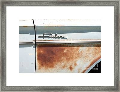 Rusty 1964 Ford Fairlane . 5d16187 Framed Print by Wingsdomain Art and Photography