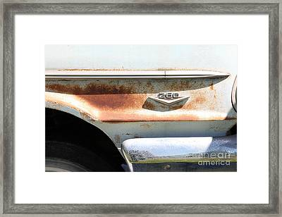 Rusty 1964 Ford Fairlane . 5d16188 Framed Print by Wingsdomain Art and Photography