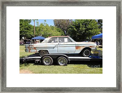 Rusty 1964 Ford Fairlane . 5d16190 Framed Print by Wingsdomain Art and Photography