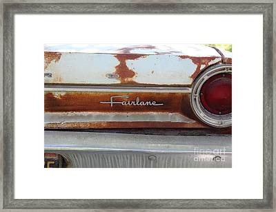 Rusty 1964 Ford Fairlane . 5d16191 Framed Print by Wingsdomain Art and Photography