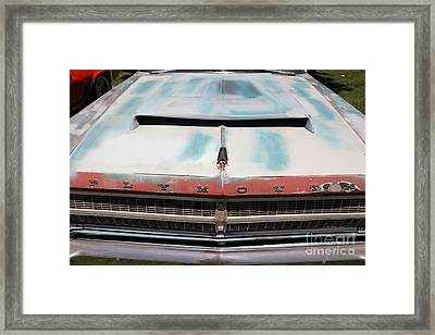 Rusty 1965 Plymouth Satellite . 5d16632 Framed Print by Wingsdomain Art and Photography