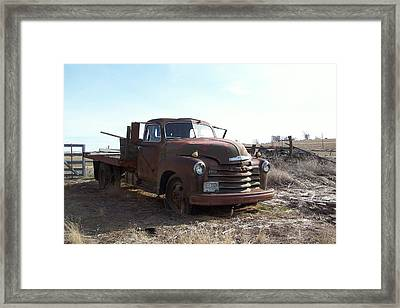 Rusty Abandoned Chevy Truck Framed Print
