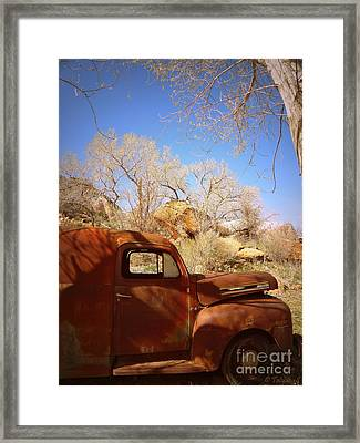 Framed Print featuring the photograph Rusty Beauty by Tanya  Searcy