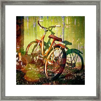 Rusty Bikes Framed Print by Sonja Quintero