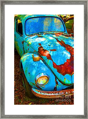 Rusty Blue Framed Print by Kendra Longfellow