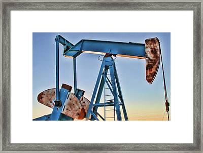 Rusty Blue Sunset II Framed Print