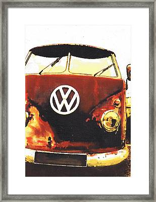 Rusty Bus Framed Print by Sharon Poulton