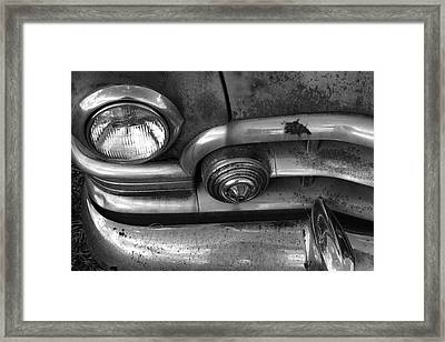 Rusty Cadillac Detail Framed Print by Lyle Hatch