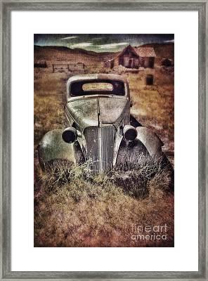 Rusty Car  Framed Print by Jill Battaglia