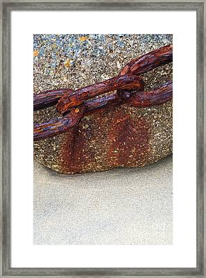 Rusty Chain Framed Print