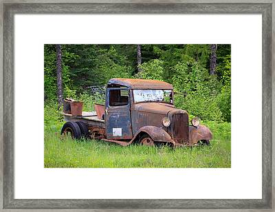 Framed Print featuring the photograph Rusty Chevy by Steve McKinzie