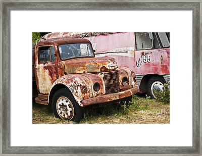 Rusty Commer  Framed Print by David Lade