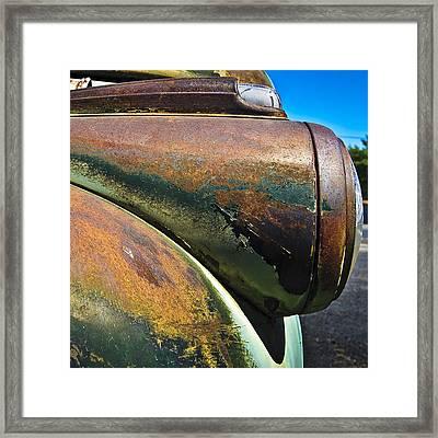 Rusty Dodge Lights Framed Print
