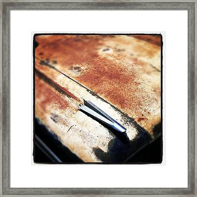 Rusty El Camino Framed Print by Gwyn Newcombe
