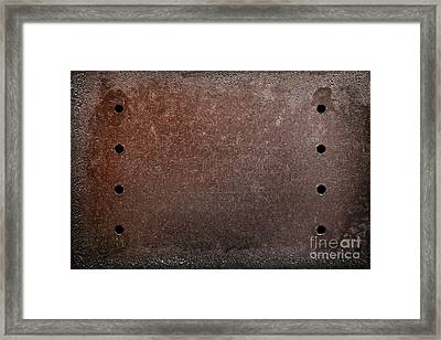 Rusty Iron Framed Print by Carlos Caetano