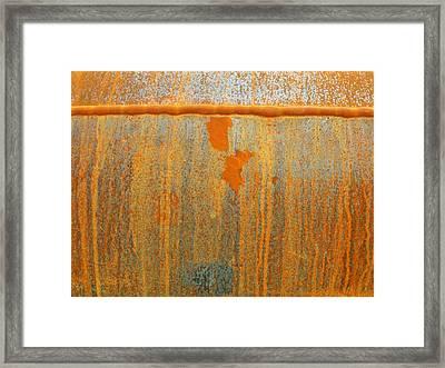 Rusty Lines I Framed Print by Anna Villarreal Garbis
