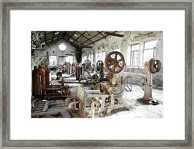 Rusty Machinery Framed Print