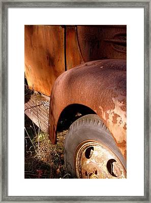 Rusty Mudguard Framed Print