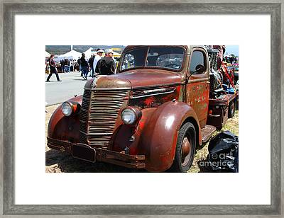 Rusty Old 1935 International Truck . 7d15497 Framed Print by Wingsdomain Art and Photography