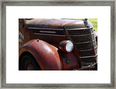 Rusty Old 1935 International Truck . 7d15499 Framed Print by Wingsdomain Art and Photography
