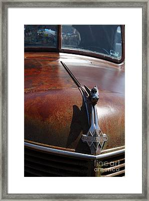 Rusty Old 1935 International Truck Hood Ornament. 7d15506 Framed Print by Wingsdomain Art and Photography