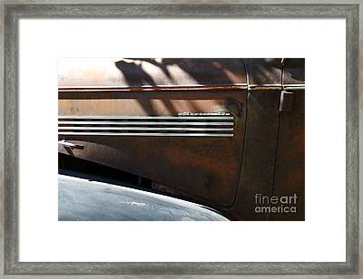 Rusty Old 1939 Chevrolet Master 85 . 5d16199 Framed Print by Wingsdomain Art and Photography