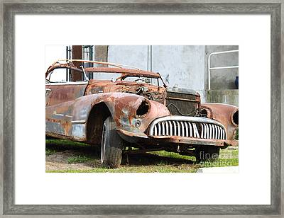Rusty Old American Car . 7d10347 Framed Print by Wingsdomain Art and Photography