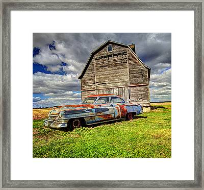 Rusty Old Cadillac Framed Print by Peter Ciro