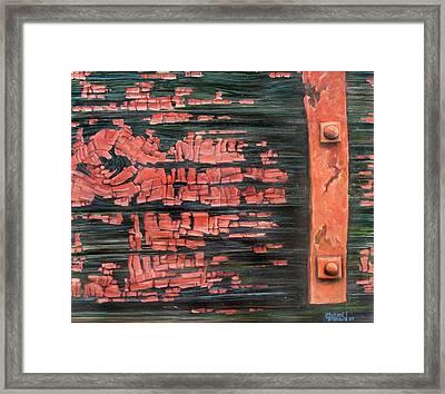 Rusty Red Rider Framed Print