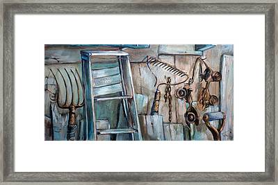 Rusty Tools Framed Print by Jean Groberg